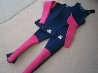 GUL Wetsuit and jacket Women's/girl's - used but good quality 2mm Surfing (c)