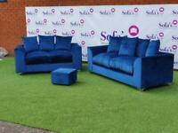 Brand new plush velvet 3+2 seater sofa sets 🔥😍✅