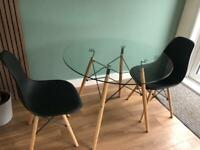 Glass Dining Table & 2 Chairs