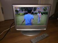 "LCD TV 15""built in DVD player and free view with remote control boxed model number MS1551f001."