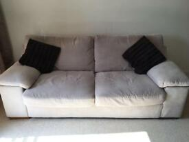 Three Seater Sofology Beige Fabric Sofa