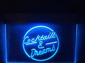Cocktails & Dreams LED light up sign