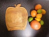 Apple shape fruit basket/bowl