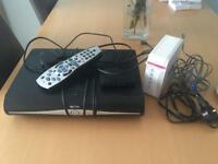 Sky plus hd box and router