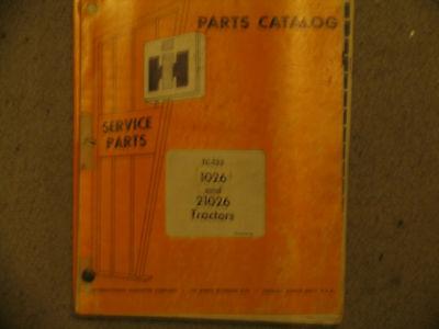 International Ih Farmall Tractor 1026 Parts Catalog