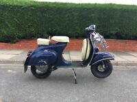 1967 vespa 90ss small frame project , with twin seat , fully uk registered