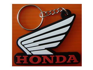 HONDA-WING-MOTORCYCLE-Vehicles-Transportation-RUBBER-KEYCHAIN-keyring-WHITE