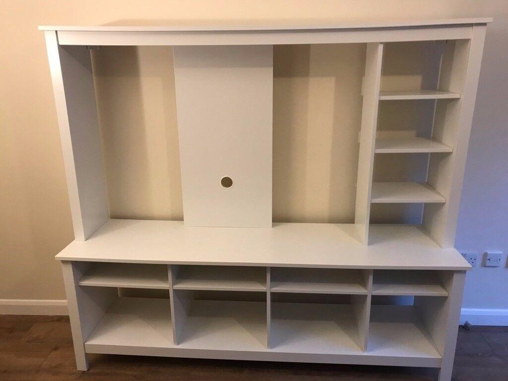 ikea tv storage unit tomnÄs white | in milton keynes