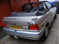 ESCORT XR3i CONVERTIBLE . VERY RARE 130BHP MODEL WITH ONLY TWO OWNERS AND LOW MILEAGE.