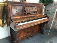 BARGAIN! Beautiful walnut upright piano - CAN DELIVER THURSDAY EVE**