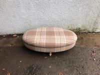 Tartan centre stool * free furniture delivery*