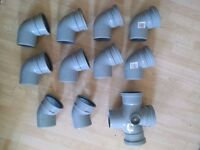 OSMA pipes, Grey Soil Pipes and Fittings Retail Price £250 selling for £95