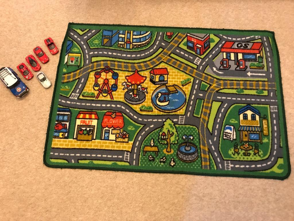 Car Play Mat Rug And Toy Car Xollection In Clydebank West