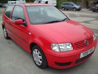 ★ 01 VW POLO 1.0 RED 69K MILES ★