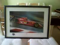 F1 limited edition print, Jean Alesi