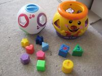 Fischer Price and Little Tikes Shapes and Numbers Learning Toys