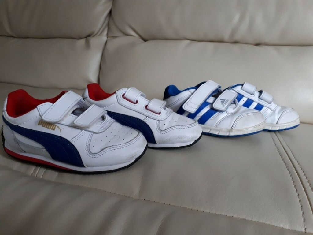 Boys shoes toddler size 5 (Puma Adidas)  659973bb6112