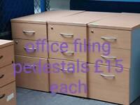 Office pedestals