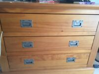 Marks and Spencer three drawer chest. Good condition. Buyer collects. Width 84 cm height 62cm
