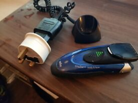 Braun cruZer 4 Shaver & Body Trimmer /wet & dry Z-60 /tested/working /missing accessories