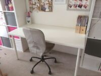Desk and office chair Ikea