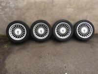 """BMW E30 16"""" ALPINA ALLOY WHEELS & CENTRE CAPS 4 STUD VERY RARE 325I M TECH 1 TECH 2 SPORT"""
