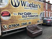 2 seater sofa in brown leather very good condition