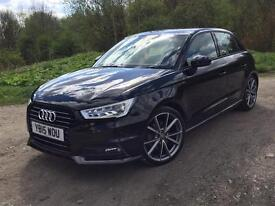 AUDI A1 S LINE 2015 BLACK EDITION SAT NAV LEATHER XENONS TWO KEYS ETC