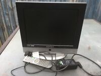"""15"""" free view Tv with DVD player"""