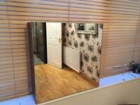 Wickes ex display Walnut full front mirrored bathroom cabinet