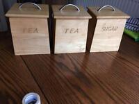 Tea and Sugar Caddies