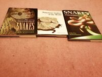 A Great Collection of 3 Hardcover books about Snakes, Very interesting