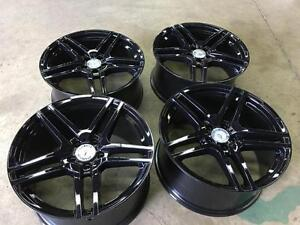 Used Wheels Mercedes Benz C Class $650 19x8.5 front 19x9.5 rear @9056732828 Zracing Gloss Black Powercoated