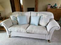 Laura Ashley Mortimer Large Sofa in Silver Grey Elmore Check - 1 Yr old