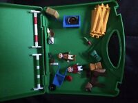 Playmobil 5893 carrying case pony farm