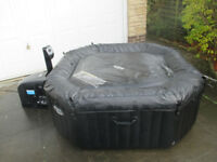 Intex 6-person Hot Tub Jacuzzi FOR SPARES or REPAIR; works but needs new heater element