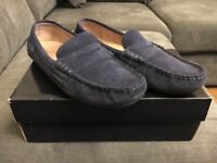 Polo Ralph Lauren Wes Suede Blue Loafers Size 9