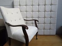 Matching bedroom set. Double bed headboard and bedroom chair.