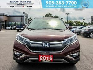 2016 Honda CR-V TOURING, GPS NAV, AWD, SUNROOF, BACKUP CAM
