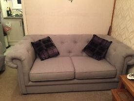 Chesterfield style 2 seater couch and chair 9 WEEKS OLD!!