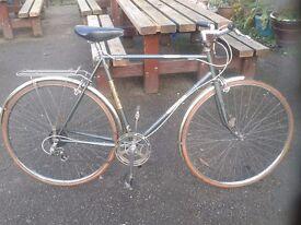 Vintage Raleigh MERLIN Road Bike Hybrid l'eroica 22.5cm Frame Brookes MINT Condition