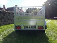 BRAND NEW MODEL 8.7x4.2 TWIN AXLE TRAILER WITH 40CM MESH 750KG