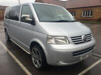 2007 57 VOLKSWAGEN TRANSPORTER 2.5 TDI SE LWB SHUTTLE 4 DR SIDE BARS CLEAR LI...