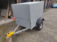 Lockable Camping Box Trailer in excellent condition Galvanised Structu
