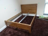 ikea pine double bed frame