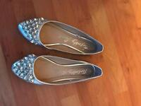 Size 6 ballet pump shoes with jewelled front