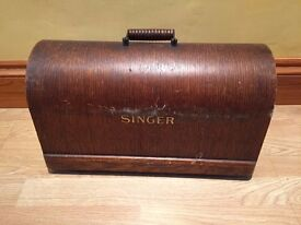 Singer sewing machine wooden top cover