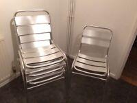 4 Indoor/Outdoor metal bistro chairs
