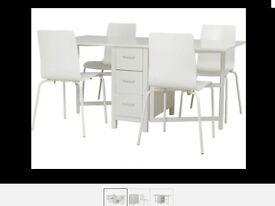 Brand New White 4 Seater Dining Set