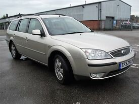 super clean 2003 mondeo zetec estate 2.0 manual lots of history mot and removable tow bar